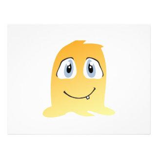 Yellow monster cartoon 21.5 cm x 28 cm flyer