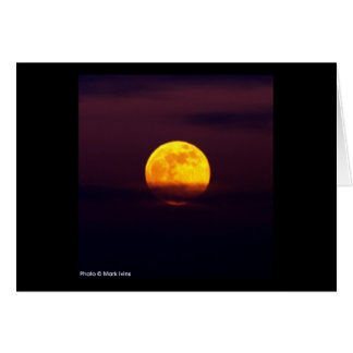 Yellow Moon Note Card