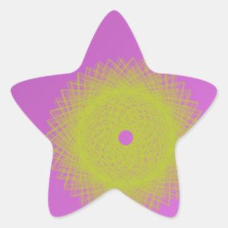 yellow moon purple abstract star sticker