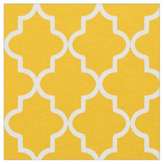 Yellow Moroccan Quatrefoil Fabric