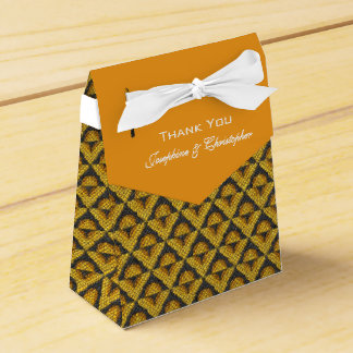 Yellow Mosaic Pattern Favour Box