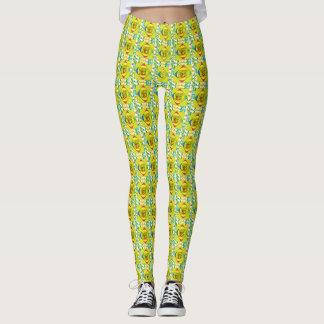 Yellow Multi-Color Leggings