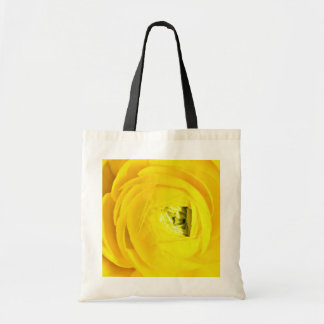 Yellow mum close-up flowers canvas bags