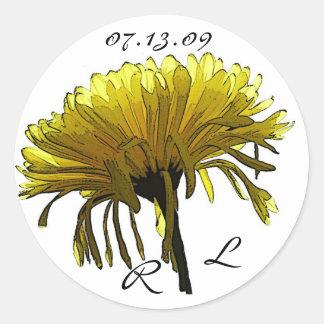 Yellow Mum small Round Sticker