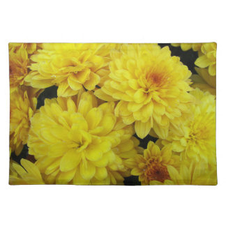 Yellow Mums Floral Placemat