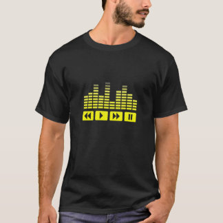 yellow music buttons with equalizer T-Shirt