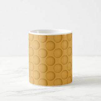 Yellow Mustard Polka Dot Coffee Mug