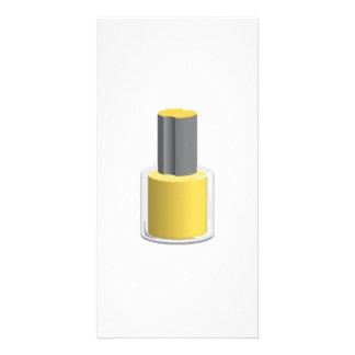 Yellow Nail Polish Personalized Photo Card