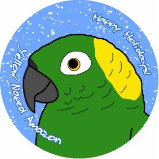 Yellow Naped Amazon Holiday Ornament Photo Cutout