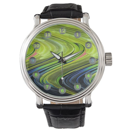 Yellow-Naped Amazon Parrot Feathers by STaylor Wrist Watch