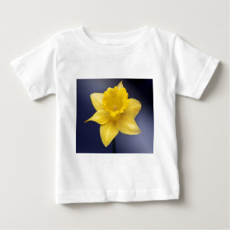 Yellow Narcissus Flower Floral watercolor paint Baby T-Shirt