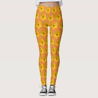 Yellow Native Flower Leggings