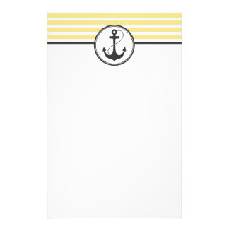 Yellow Nautical Anchor Stationery