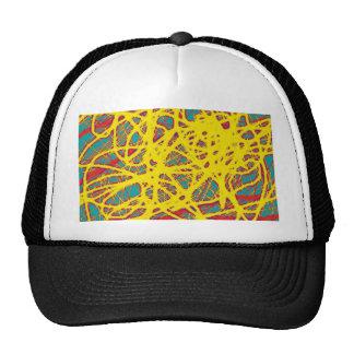 Yellow neon chaos cap