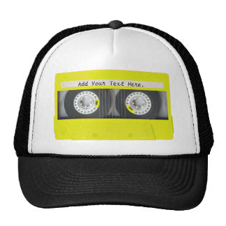 Yellow Neon Customizable Cassette Tape Cap