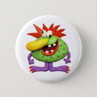 Yellow Nose Monster 6 Cm Round Badge