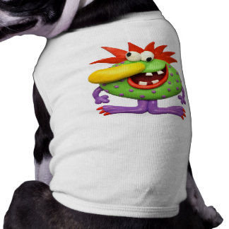 Yellow Nose Monster Sleeveless Dog Shirt