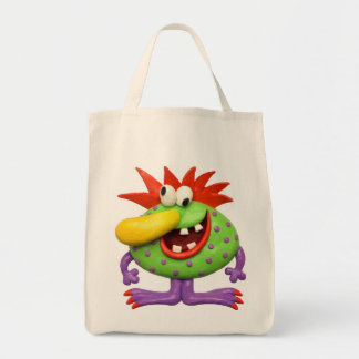 Yellow Nose Monster Tote Bag