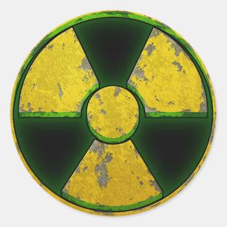 Yellow Nuke Round Sticker