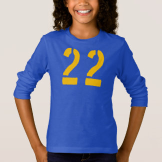 Yellow Number 22 T-Shirt