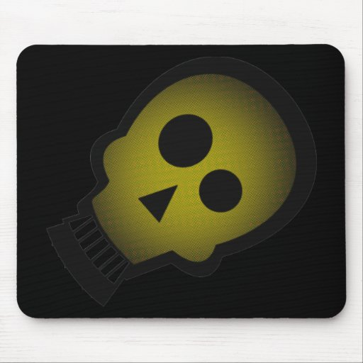 YELLOW NUTTY SKULL MOUSEPADS
