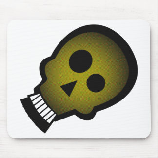 YELLOW NUTTY SKULL MOUSE PAD