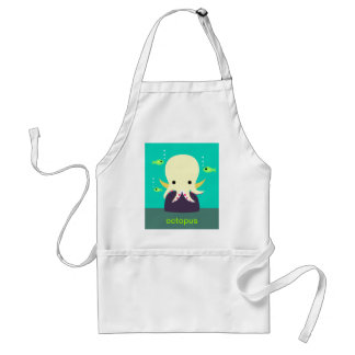 Yellow Octopus Apron