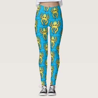 Yellow Octopus Leggings