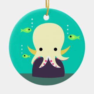 Yellow Octopus Ornament