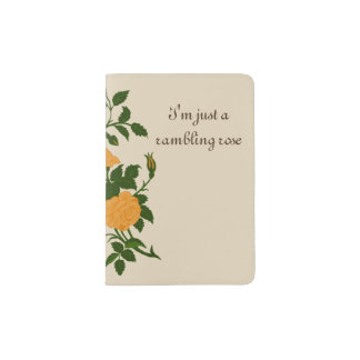 Yellow Old Fashioned Rambling Rose Passport Holder