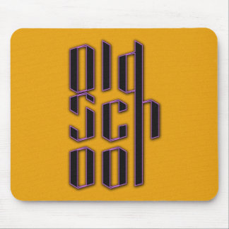 Yellow Old School Mouse Pad