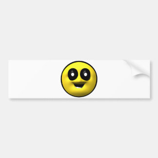 Yellow old smiley bumper sticker