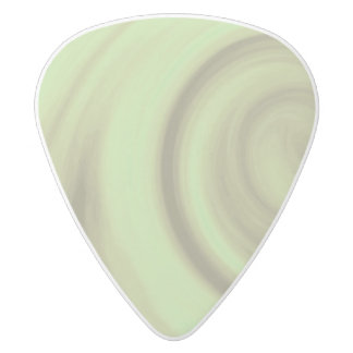 Yellow Olive Green Swirl White Delrin Guitar Pick