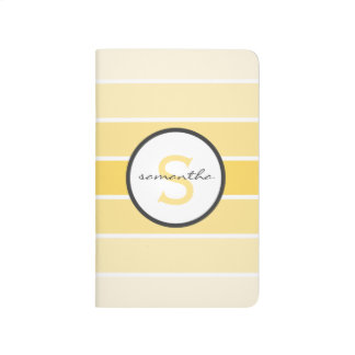 Yellow Ombre Stripes Journal