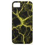 Yellow on Black Cracks iPhone 5 Case