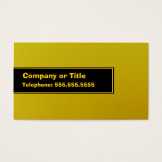 Yellow On Black On Yellow Business Card