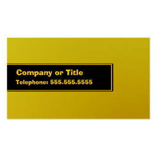 Yellow On Black On Yellow Pack Of Standard Business Cards