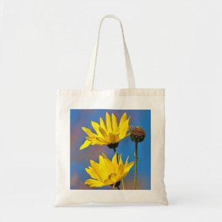 Yellow on Blue Bag