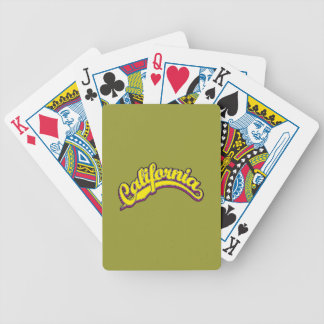 Yellow on Violet Playing Cards