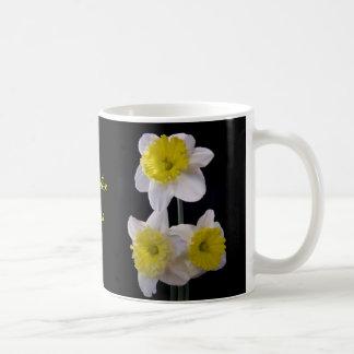 Yellow on White Daffodil Coffee Mug