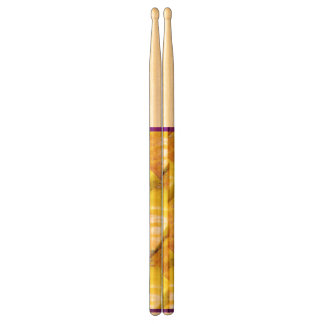 Yellow on Yellow Pattern Drumsticks