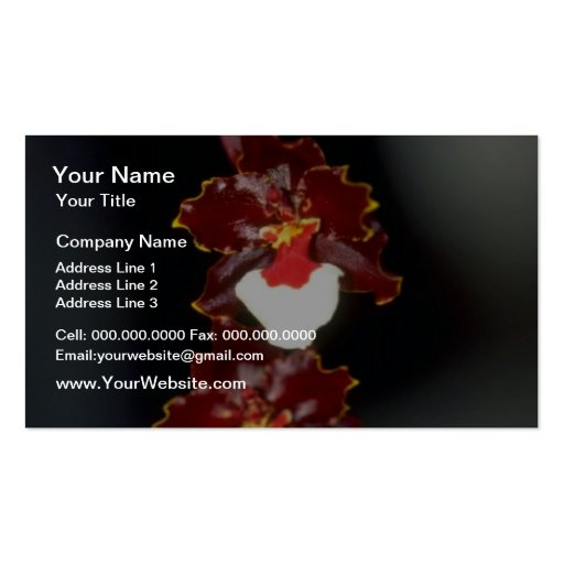 Yellow Oncidium flowers Pack Of Standard Business Cards