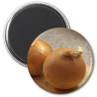 Yellow Onions Vegetables Magnet