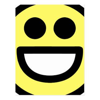 Yellow Open Mouth Smiley Face Postcard