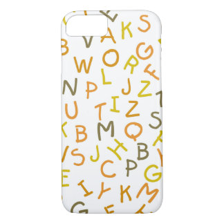 Yellow & Orange Alphabet Pattern iPhone 7 Case
