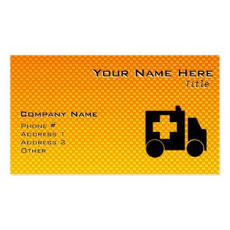 Yellow Orange Ambulance Business Card Templates
