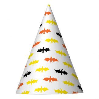Yellow Orange and Black Bat Party  Hat