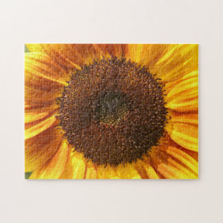 Yellow, Orange, and Brown Sunflower Puzzle