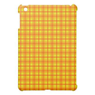 Yellow Orange and Red Retro Chequed Pern iPad Mini Case