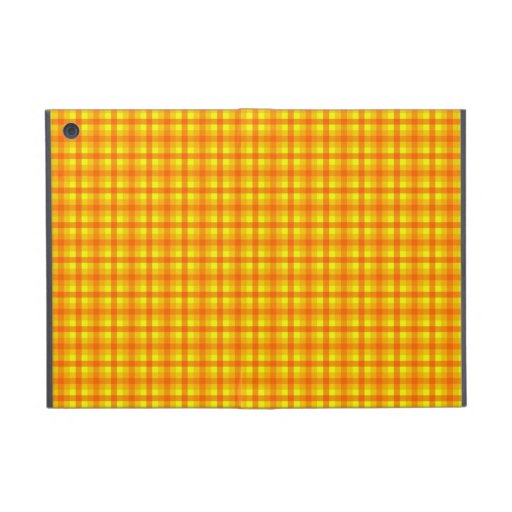 Yellow Orange and Red Retro Chequered Pattern Case For iPad Mini